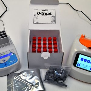 Image shows the Test and Treat kit