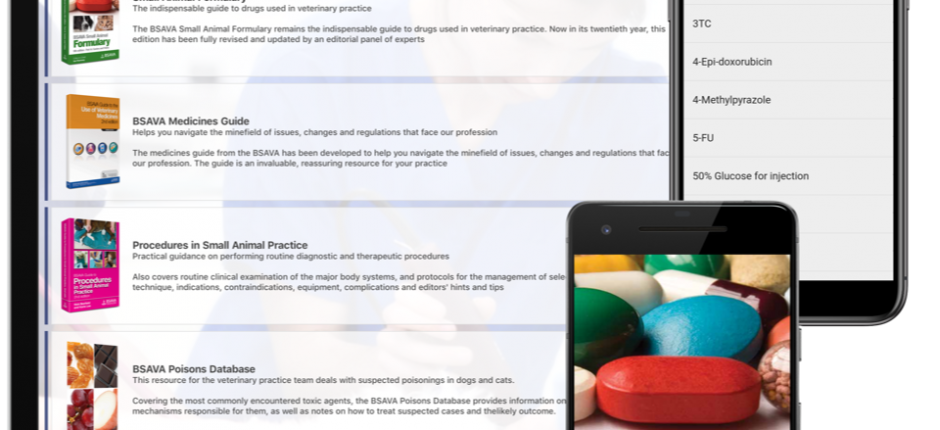 Image shows the BSAVA member app