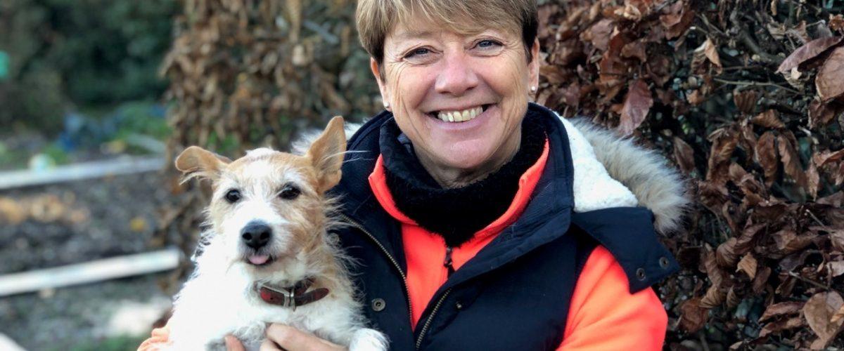 SQP regulator Caroline Johnson, Director of Vetpol pictured with her dog.