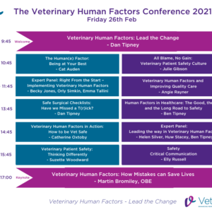 vetled human factors virtual conference timetable